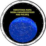Obrotowa mapa nieba 30x30 cm