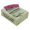 50 pcs microscopic slides with pink description field