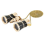 Levenhuk Brodway theatre binocular 3x25 black-gold with chain