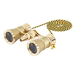 Levenhuk Brodway theatre binocular 3x25 golden with chain