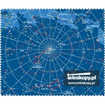 Microfiber cloth 18x15 cm with sky chart