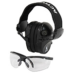 Protective shooting headphones RealHunter ACTiVE PRO black + protective eyeglasses