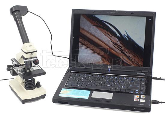 Mikroskop biolux z kamerą pc vga śrubą mikro