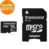 Karta microSDXC 64 GB klasa 10 z adapterem SD do GoPro (TRANSCEND)