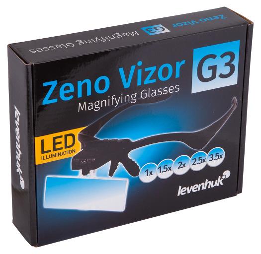 Lupa Okulary Powiększające Levenhuk Zeno Vizor G3 15x 2x 25x 35x