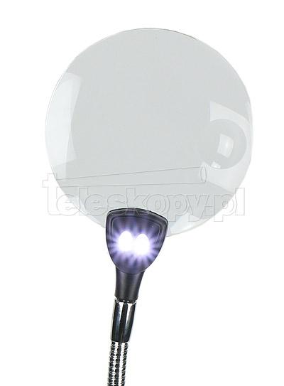 Lupa stolikowa 2x   4x z łapkami i oświetleniem LED 6266423f1c