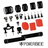 Set of mounting elements for Gopro (by Powerbee)