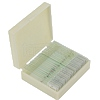 Set of 25 ready slides in plastic box